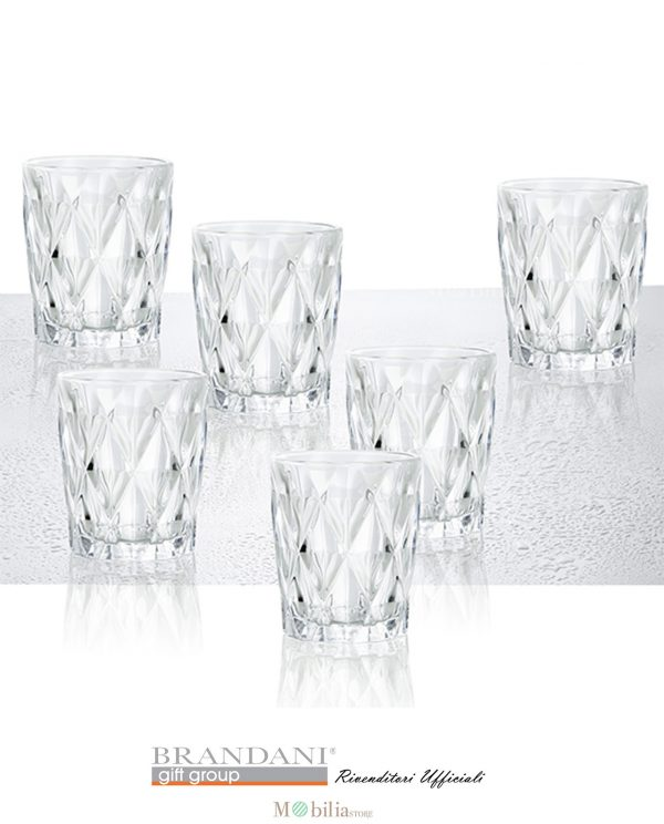 Bicchieri Acqua Diamante Brandani