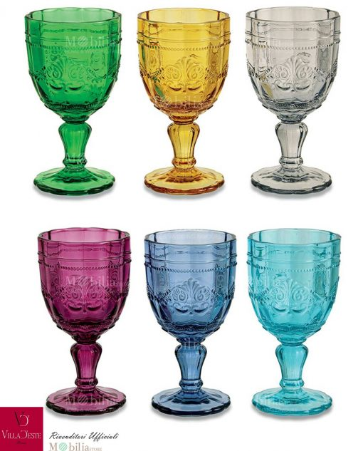 bicchieri calice vino assortiti