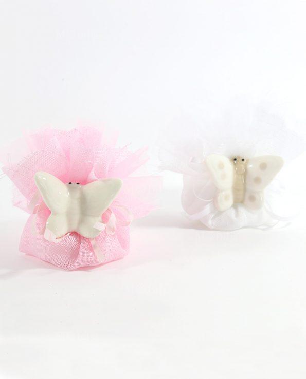Bomboniere farfalle rosa o tortora