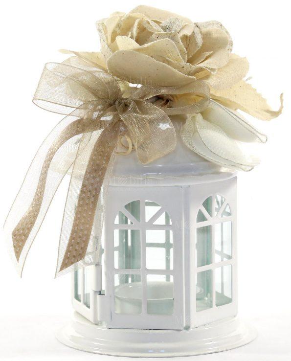 Lanterne per Bomboniere con Rosa Portaconfetti