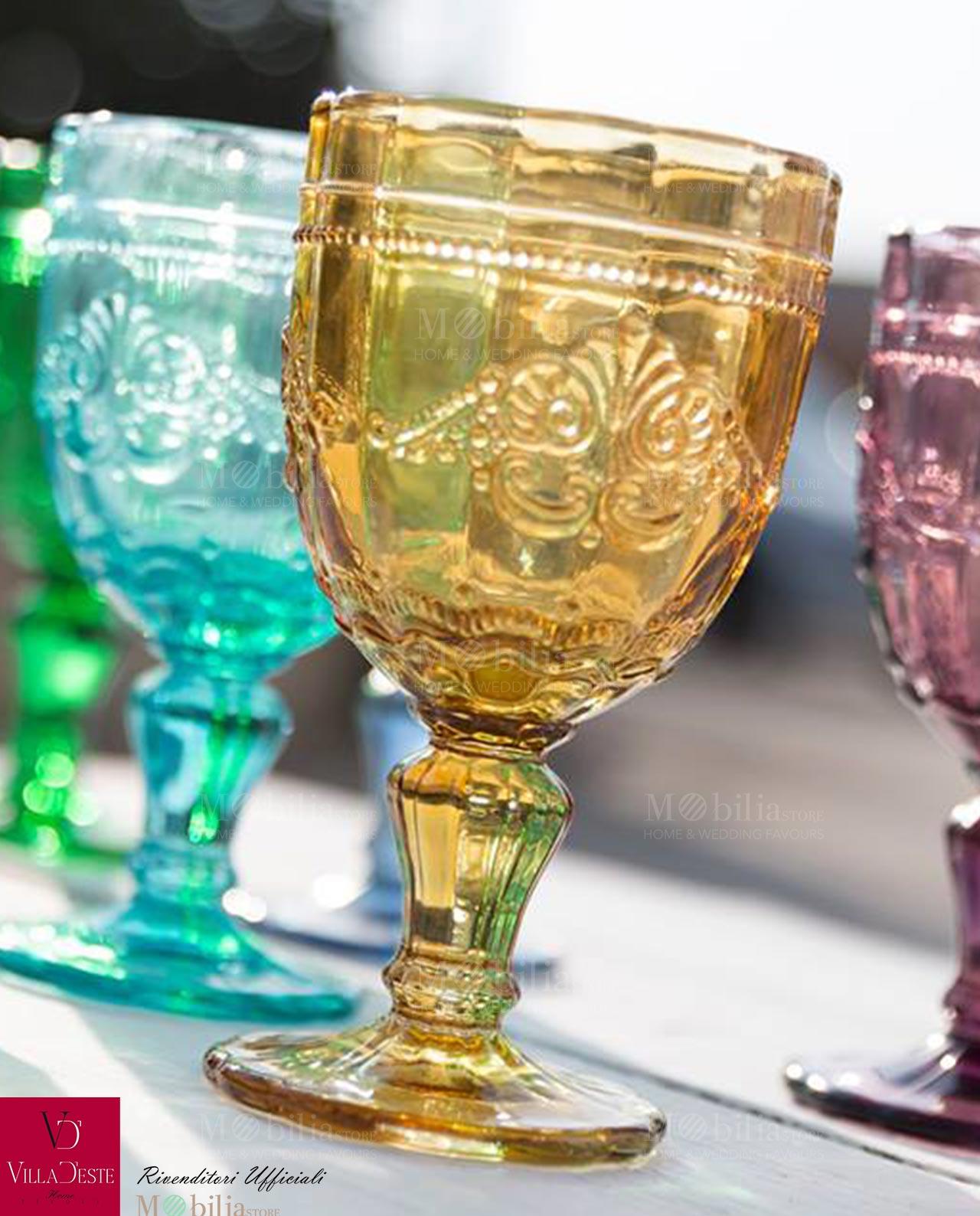 Bicchieri vino colorati syrah villa d 39 este for Bicchieri colorati