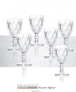 calici per vino trasparenti diamante brandani