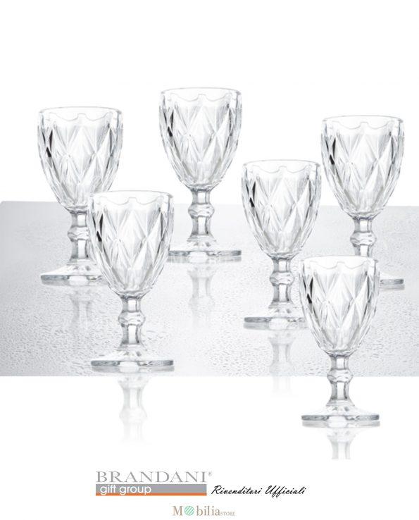 Bicchieri Vino Diamante Brandani