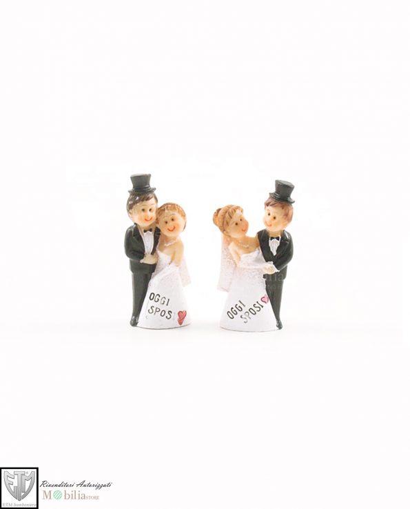 Bomboniere coppie di sposini divertenti set 2 forme assortite