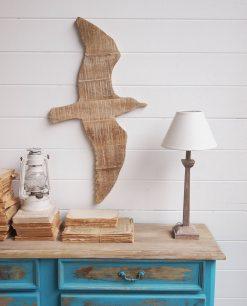 decorare le pareti gabbiano di legno