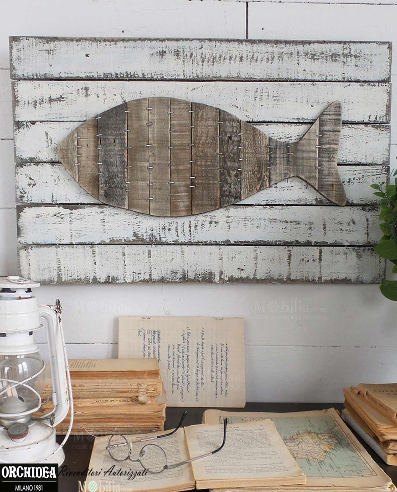 Pannelli decorativi da parete vintage pesce mobilia store home favours - Pannelli decorativi pareti ...