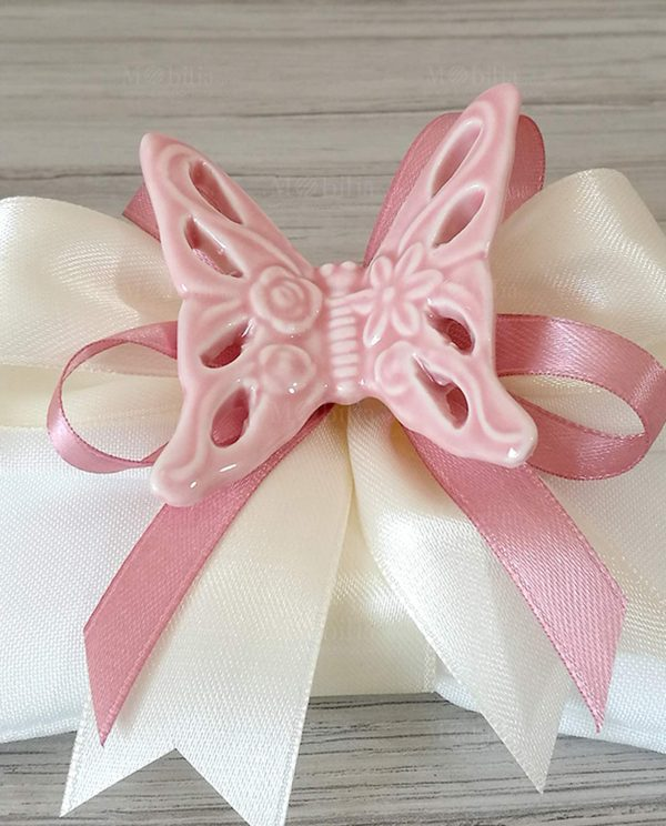 Bomboniere Farfalle Traforate Rosa