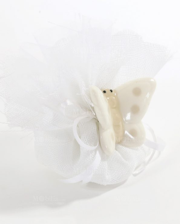 Bomboniere Farfalle con Pois Tortora