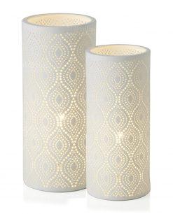 lampada eclettica porcellana bianca grande e piccola brandani