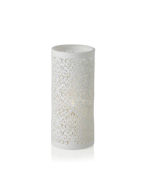 lampada jacquard porcelana piccola brandani