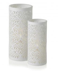 lampada jaquard porcellana grande e piccola brandani