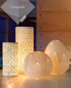 lampade porcellana traforata varie forme brandani