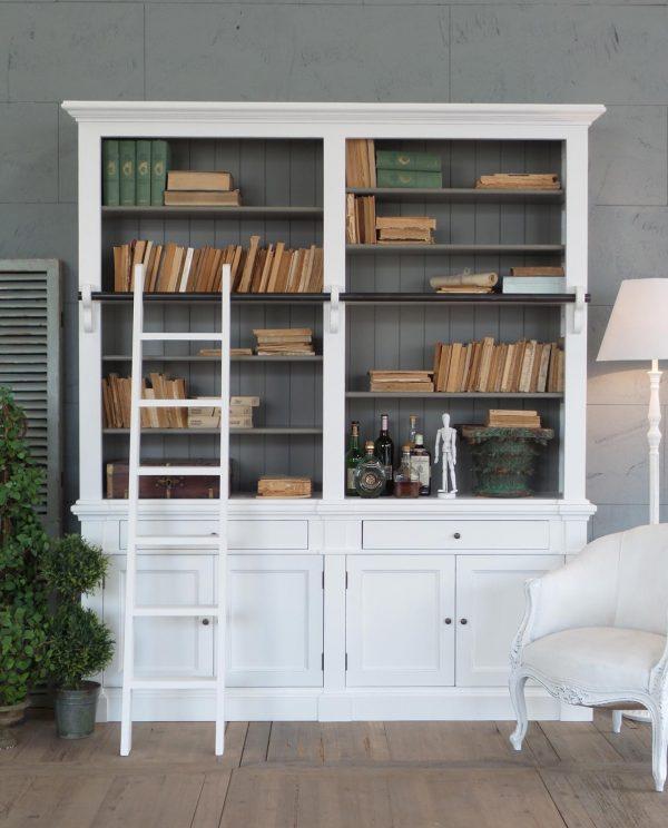 Libreria Bianca Legno d'Abete