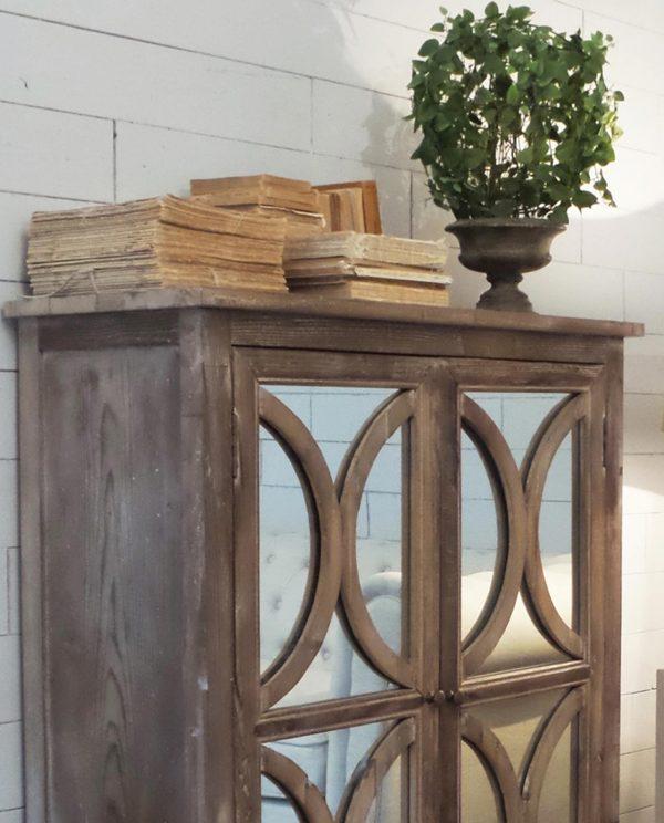 Media credenza 2 ante legno con specchi