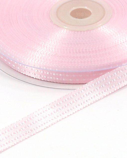 nastro in raso puntinato rosa