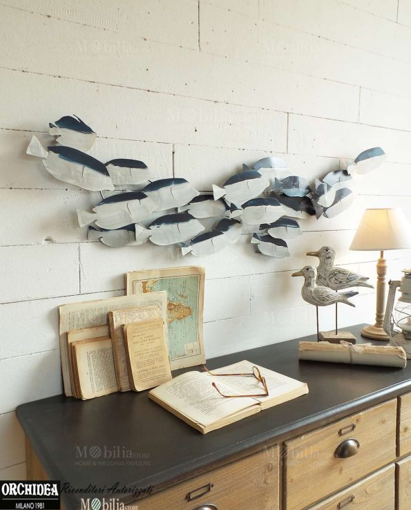 Pannello decorativo con pesci in promozione for Quadri decorativi arredamento