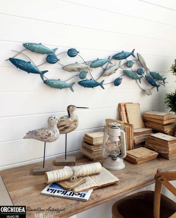 Pannelli decorativi per pareti con pesci for Quadri decorativi arredamento