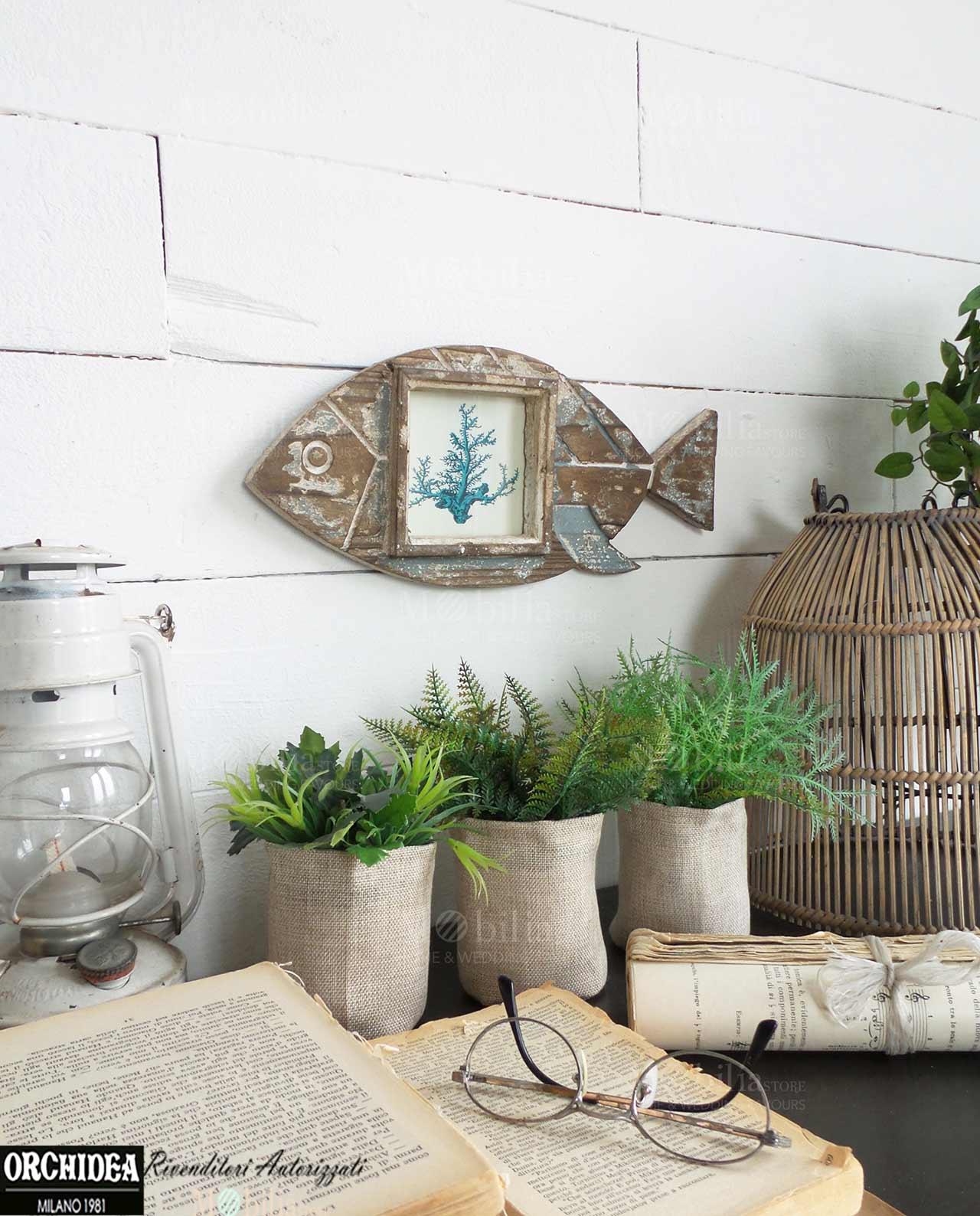 Pannello Decorativo Portafoto Con Pesce Mobilia Store