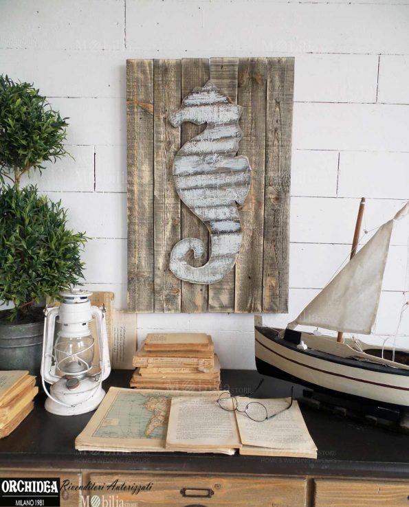 Pannelli da parete vintage cavalluccio marino - Pannelli da parete decorativi ...