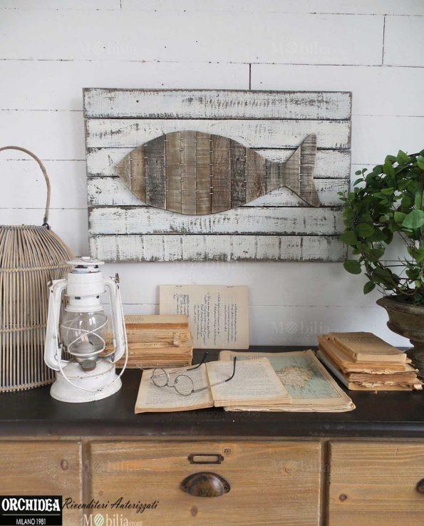 Pannelli decorativi da parete vintage pesce for Quadri decorativi arredamento