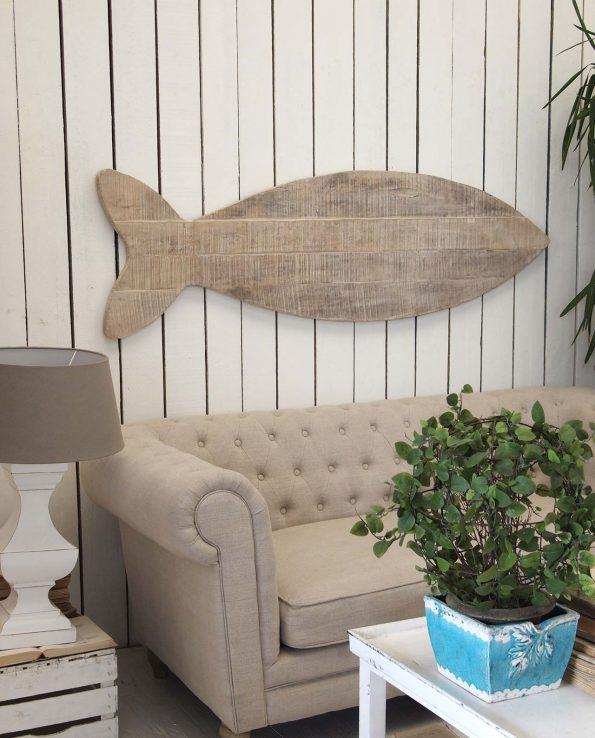 Decorare le pareti pannelli legno a forma di pesce for Quadri decorativi arredamento