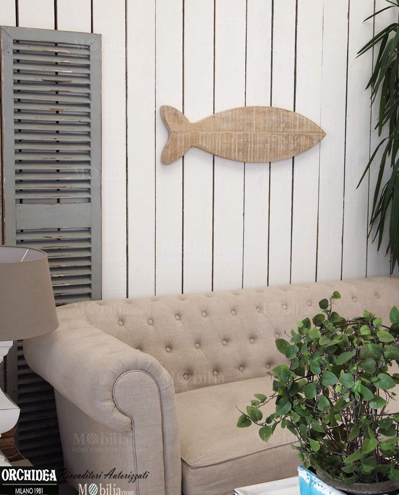 Pannelli decorativi da parete legno pesce for Quadri decorativi arredamento
