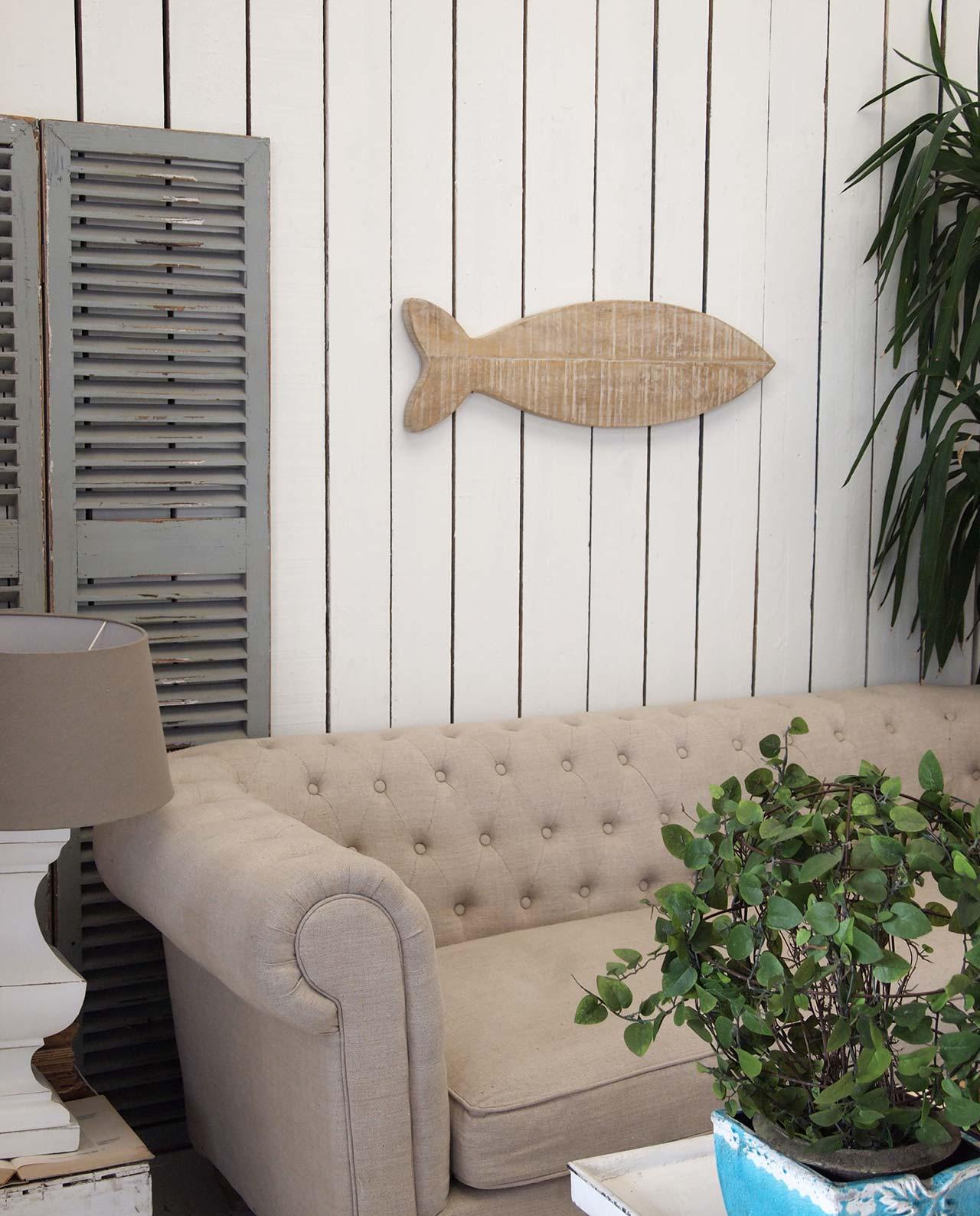 Decorare le pareti pannelli legno a forma di pesce - Parete di legno ...