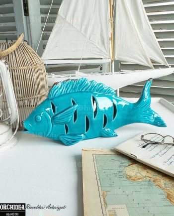 Pesci Ceramica per Arredamento Tema Mare