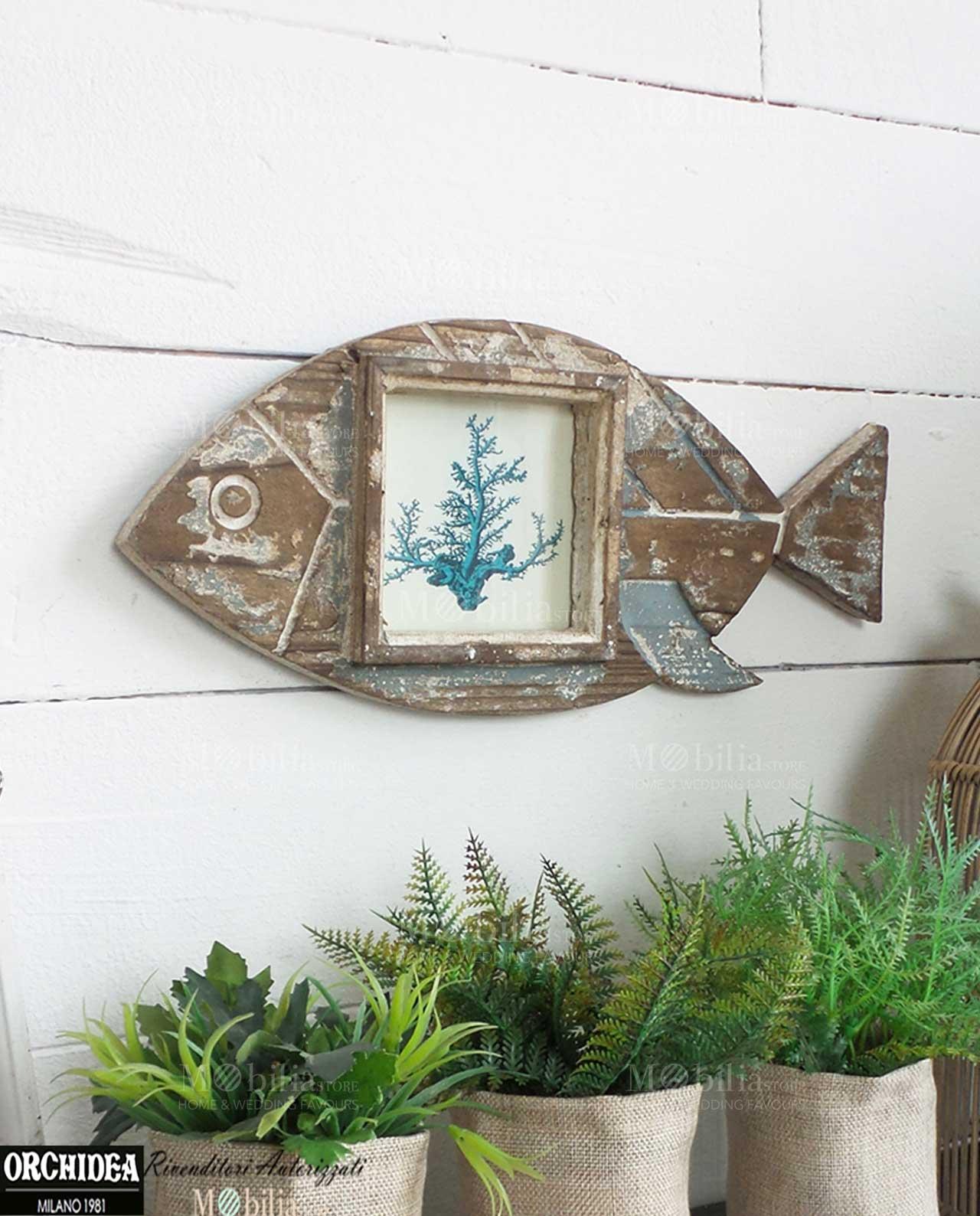 Pannello decorativo portafoto con pesce - Pannello decorativo design ...