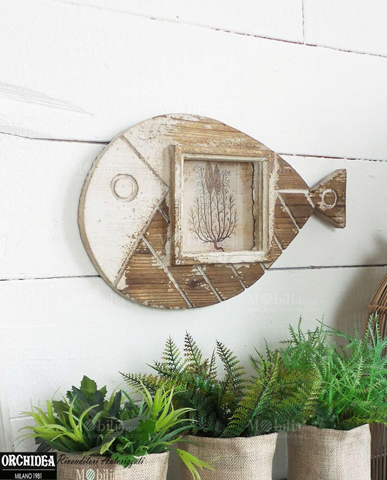 Pannello portafoto decorativo con pesce - Pannello decorativo ...