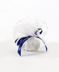 sacchettino pois con nastro blu