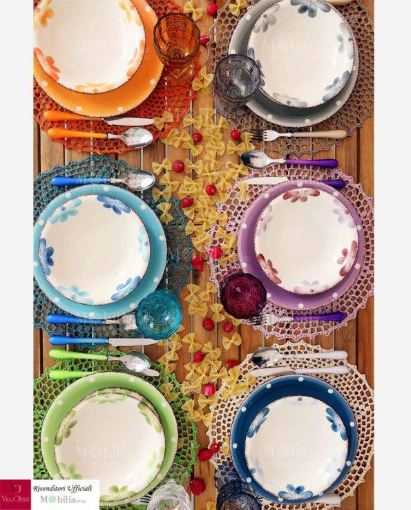 Bicchieri Acqua Colorati Syrah Villa d'Este