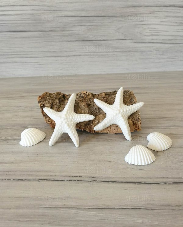Stelle Marine Decorative Ceramica Bianca