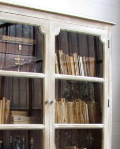 vetrina in legno 2 ante