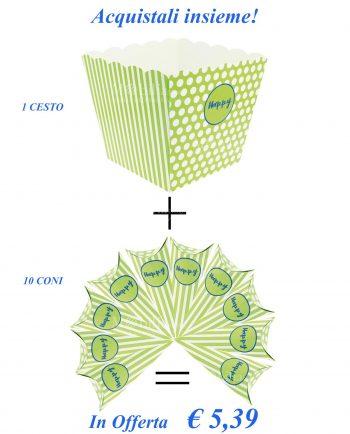 Coni e Contenitori per confettata Verdi