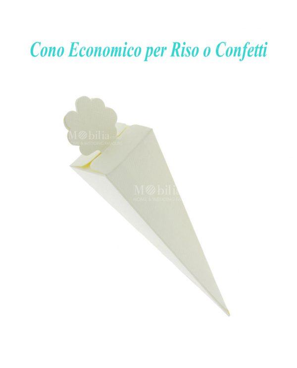 Economici Coni Portariso e Confetti Avorio