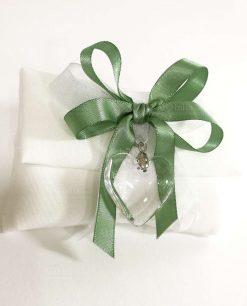 Dettaglio sacchettino confezionato verde