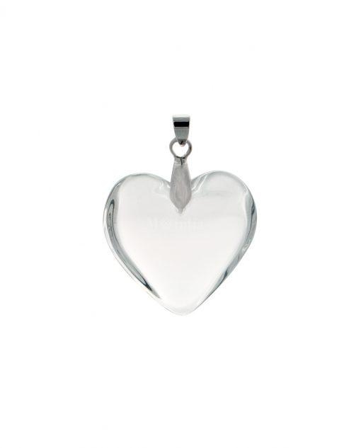 Pendente cuore trasparente piccolo