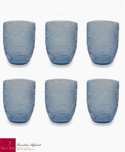 Set sei bicchieri acqua blu villa deste