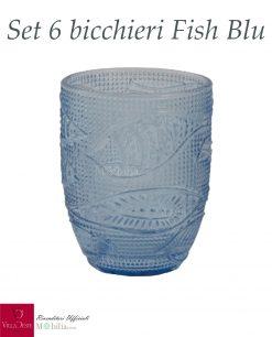 bicchieri blu fish villa deste