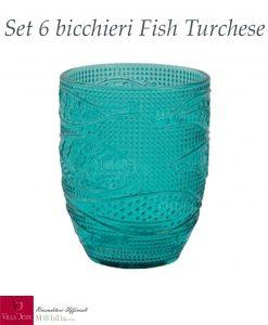 bicchieri turchesi fish villa deste