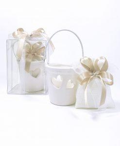 bomboniera secchiello ceramica