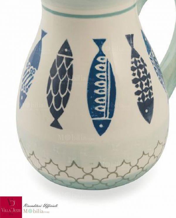 Caraffa Ceramica con Pesci Zante Villa d'Este