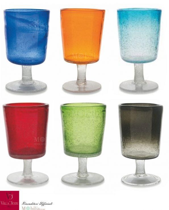 Set 6 Bicchieri Colorati Malibu Ravello Villa d'Este