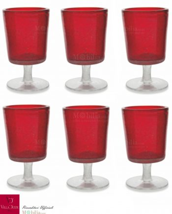 Set 6 Bicchieri Vino Rossi Malibu Villa d'Este