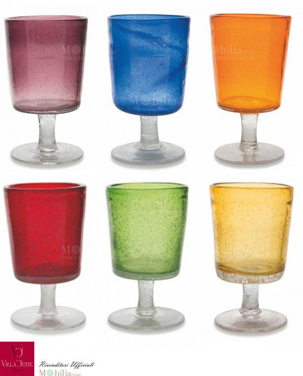 Set 6 Calici Colorati Malibu Spray Villa d'Este