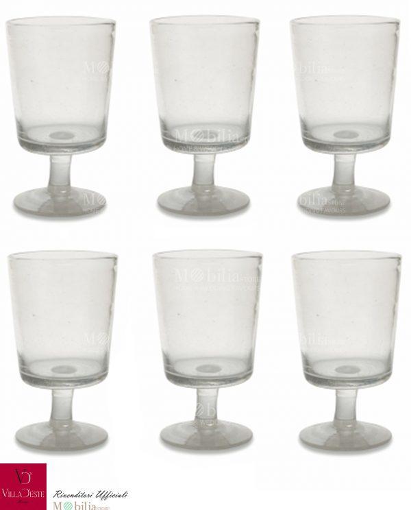 Set 6 Bicchieri per Vino Trasparenti Malibu Villa d'Este