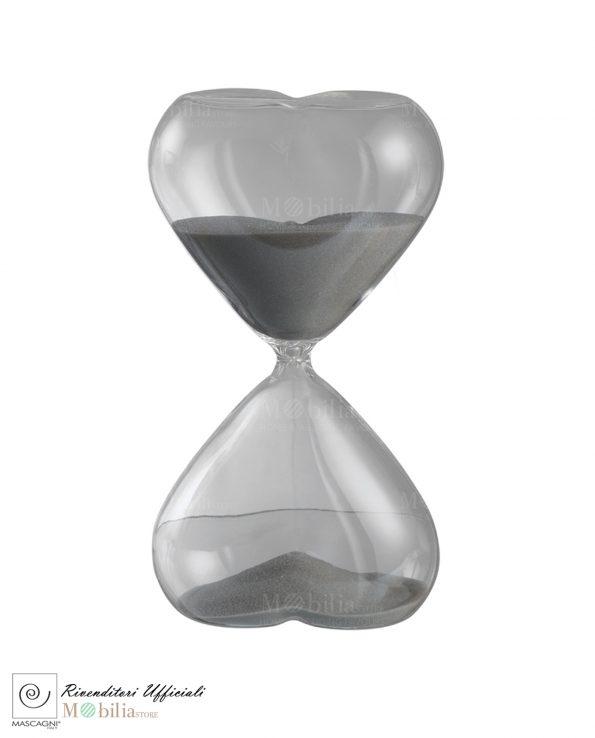 Bomboniere Clessidra Online da 30 Minuti per Matrimonio-Bomboniere Nozze d'Argento Clessidra Cuore 30 Minuti