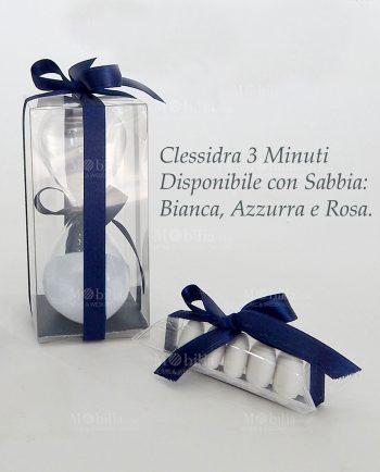 Clessidra Bomboniera da 3 Minuti Vetro