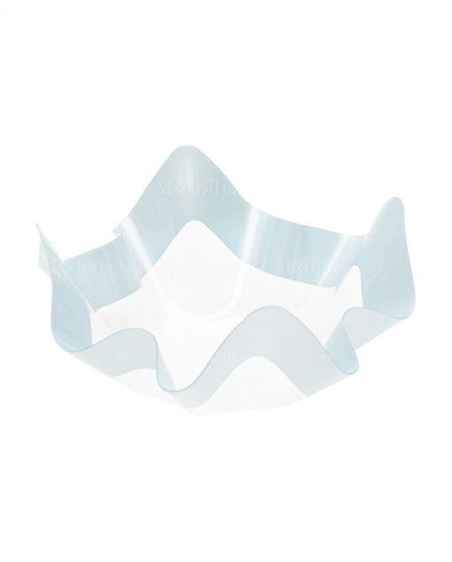 contenitore piccolo bordo azzurro per confettata